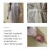 Халати медичні одноразові на зав`язках з манжетами